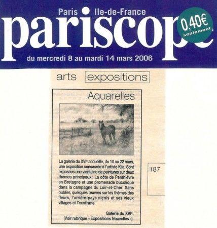 Exposition du 9 au 22 Mars 2006