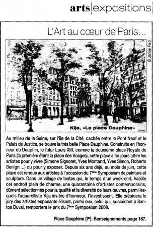 7ème Symposium de Peinture et Sculpture à Paris les 6, 7 et 8 juin 2008