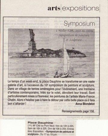 10ème Symposium de Peinture et Sculpture, Place Dauphine, Paris 1er