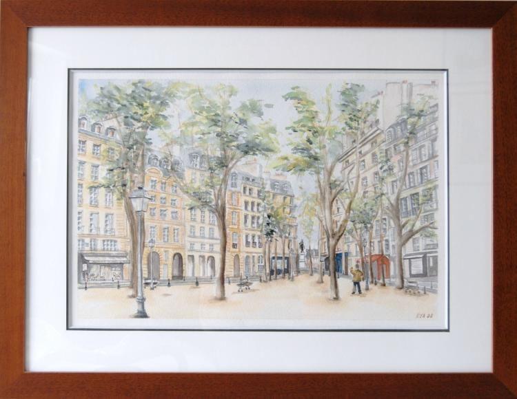 La Place Dauphine au printemps PARIS